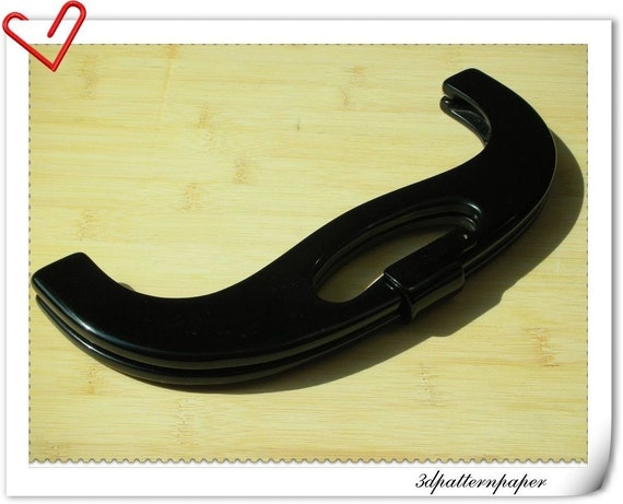 26cm big size Black resin purse frame B84