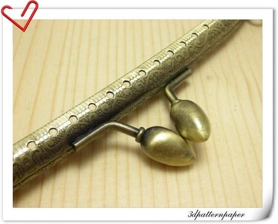 8 inch craved sewing purse frame Anti bronze C12