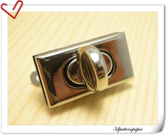 3.5cm( 1 3/8)  self-locking  twist-locks Purse Flip Locks puse locks  nickel  E71