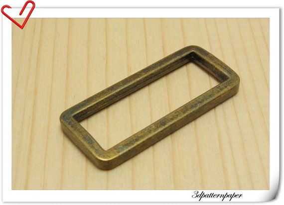 1.5 inch (inner size) Vintage Bronze alloying rectangular buckles 10pcs J43