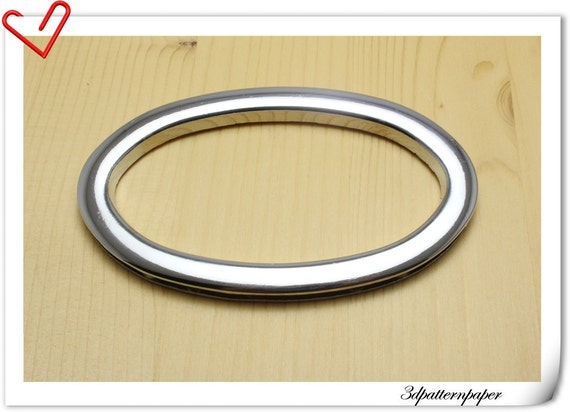 3 1 2 inch inner diameter handbag handle silver oval cut for Liner diametre 4 50