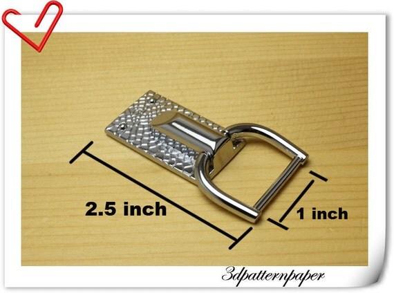 Purse hooks,Bag hooks,silver, 4 pcs , For 1 inch (2.5cm) strap  i 33