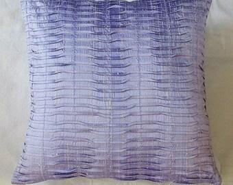 lilac dupioni silk pintuck throw pillow move pleated   cushion cover modern decaretve  contemporary design pillow