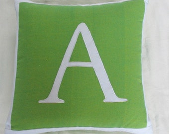 Letter A  Word monogram pillows  Custom Made-18 inch  throw cushions