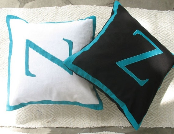 Custom Made letter Z alphabet pillows - decorative cushion covers -customize size , colour