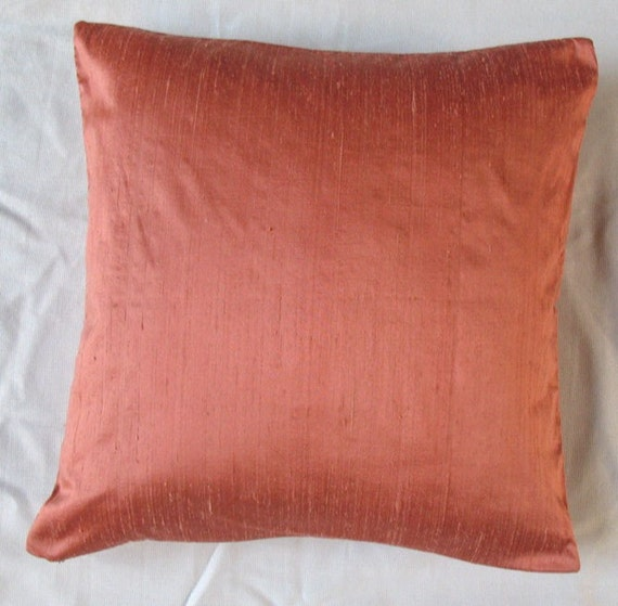 Peach Orange Cushion Cover 16 Inch Decorative Throw Pillow