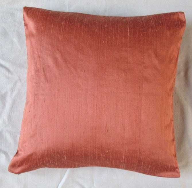 Peach Decorative Throw Pillows : peach orange cushion cover 16 inch decorative throw pillow
