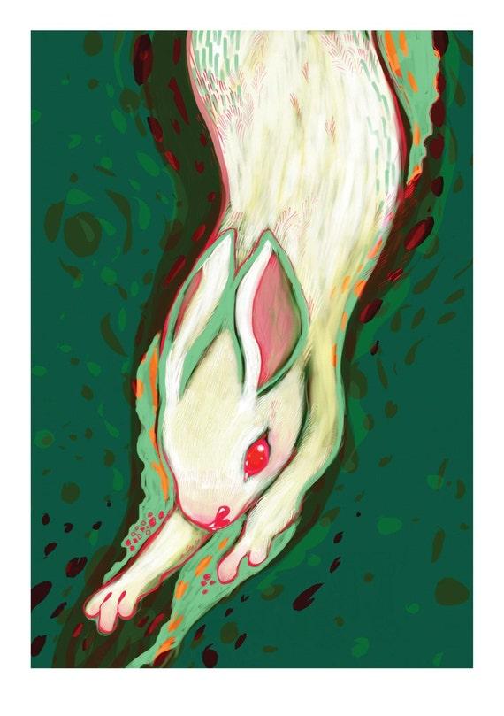 Down the Rabbit Hole Limited Edition Art Print Medium