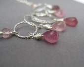 Pink Tourmaline, Mystic Pink Quartz Vision of Love necklace