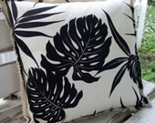 The Lake Pillow - Tropical Fern 16 inch Outdoor Pillow Cover by ragadoos