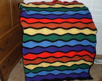 Child's Afghan in Crayon Colors