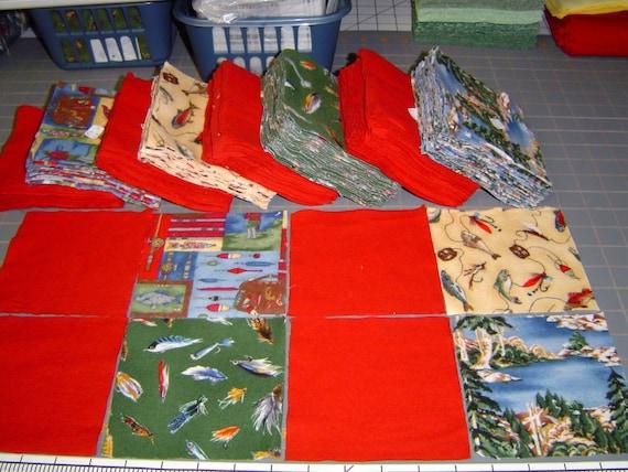 Gone Fishing Rag Quilt Kit