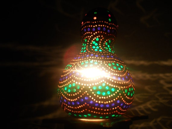 Warm Beauty Gourd Art drop lamp for a peaceful room