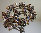 Charm Bracelet Antique Bronze Gingo Leaves