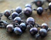 Faithful Friend black pearl bracelet