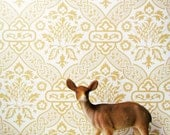 RESERVED LISTING for Henslee Vintage Harvest Gold Wallpaper 5 Yards