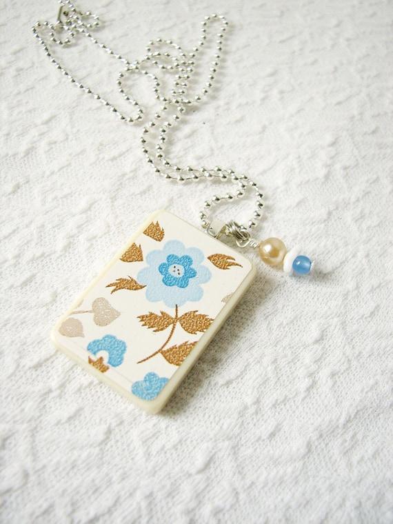 Paper Parade Necklace Blue Bouquet
