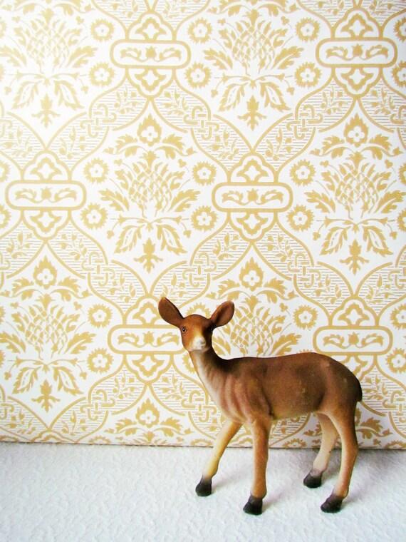 RESERVED LISTING for Henslee Vintage Harvest Gold Wallpaper 5 Yards