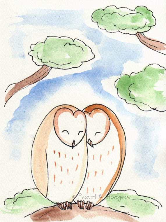 Owl Love - Original Illustration Greeting Card