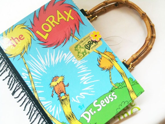 Dr Suess Lorax Book Purse-PREORDER