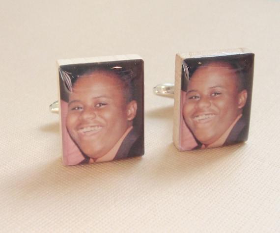 Custom Photo Cufflinks for Men - Christmas Stocking Stuffer - Personalized Keepsake Gift for Him