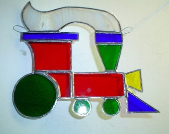 stained glass train