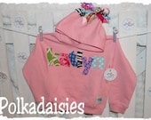 Polkadaisies...custom name hoodie