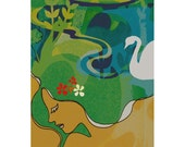 Swan Maiden -  4 x 6 / 9 x 13.50 inch Print