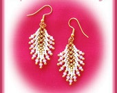 Beading tutorial - Crystal Feathers earrings - St Petersberg stitch