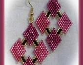 Shimmering Rose earring PATTERN