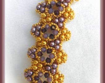 Beaded Bracelet Tutorial - Double pearl - Triangle weave
