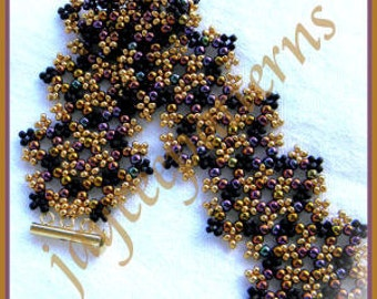 Beading Tutorial - Eternity bracelet - Netting stitch
