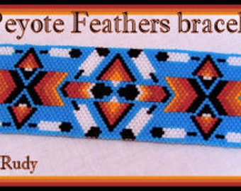 Bead Pattern - Peyote Feathers bracelet