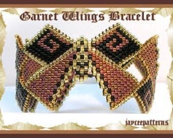 Garnet wings bracelet PATTERN