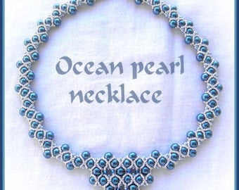 Beading tutorial - Ocean pearl necklace - RAW