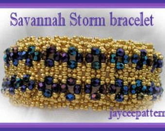 Beading Tutorial - Savannah Storm Bracelet - Netting stitch