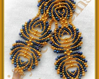 Beading Tutorial - Feathers bracelet - Peyote stitch