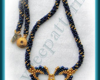 Bead Tutorial - Feathers necklace - Peyote stitch
