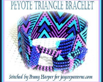 Bead Pattern - Triangle Peyote bracelet - No clasp or stitch instruction