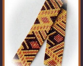 Bead Pattern - Mocha Bracelet - Peyote Odd count