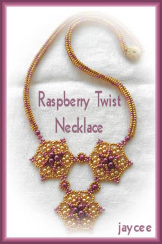 Raspberry Twist necklace PATTERN