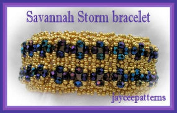Beading Tutorial - Savannah Storm Bracelet - Netting stitch