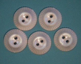 Lot of 9 vintage 1950s unused light pink plastic buttons for your sewing prodject