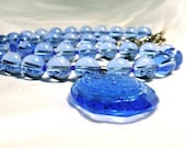 Nine Sky Blue necklaces -- RESERVED FOR GABI