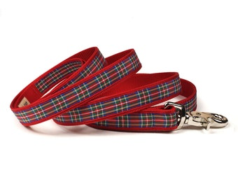 royal stewart tartan plaid leash (3/4 inch)