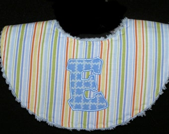Personalized - Waterproof Baby Bib - Teething Tots - White Chenille