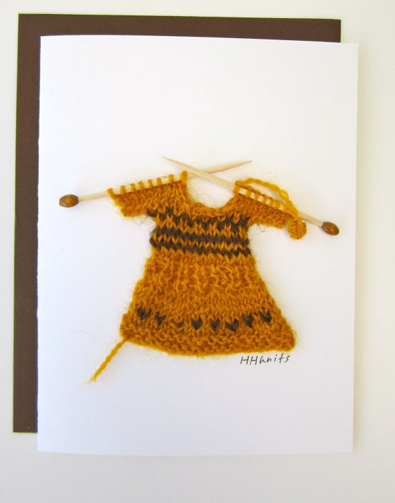 Knitted Dress // Blank Card