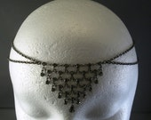 Art Deco Crystal Chain Maille Circlet