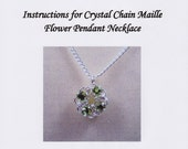 Crystal Chain Maille Flower Pendant Necklace Instructions PDF