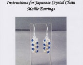 Japanese Crystal Chain Maille Earrings Instructions PDF
